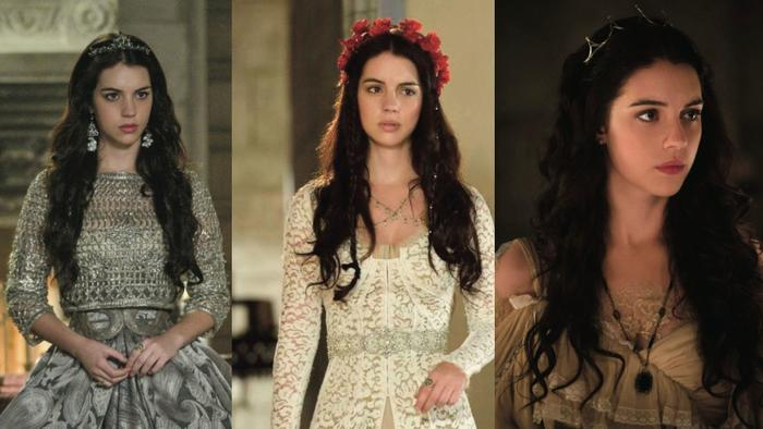 """Queen Mary's fashion-icon dresses from """"Reign"""""""